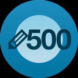 500 published postmilestone!