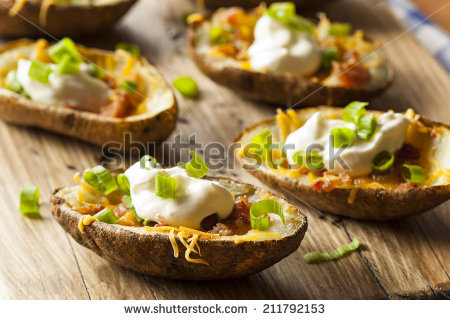 Buffalo Chicken Potato Skins (Recipe)